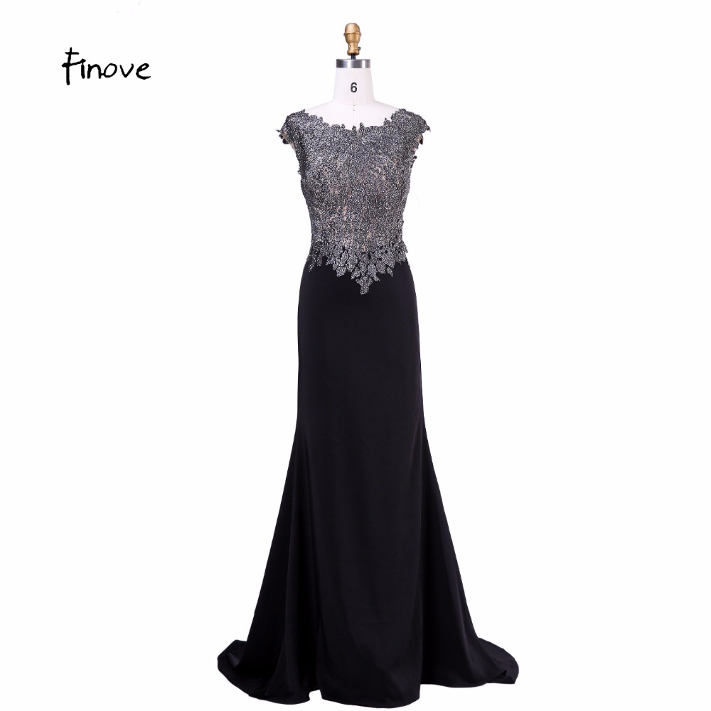 Mother of the bride Pant Suit Black With Scoop Neck Cap Sleeve Beading Floor length Jersey