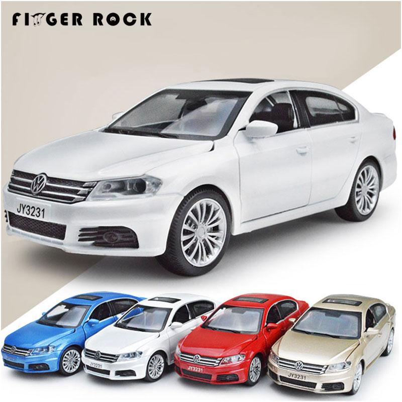 Volkswagen LAVIDA Car Model 1:32 Diecast Pull Back Metal Alloy Car Acousto-optic Simulation Cars Toys Collection Oyuncak Araba