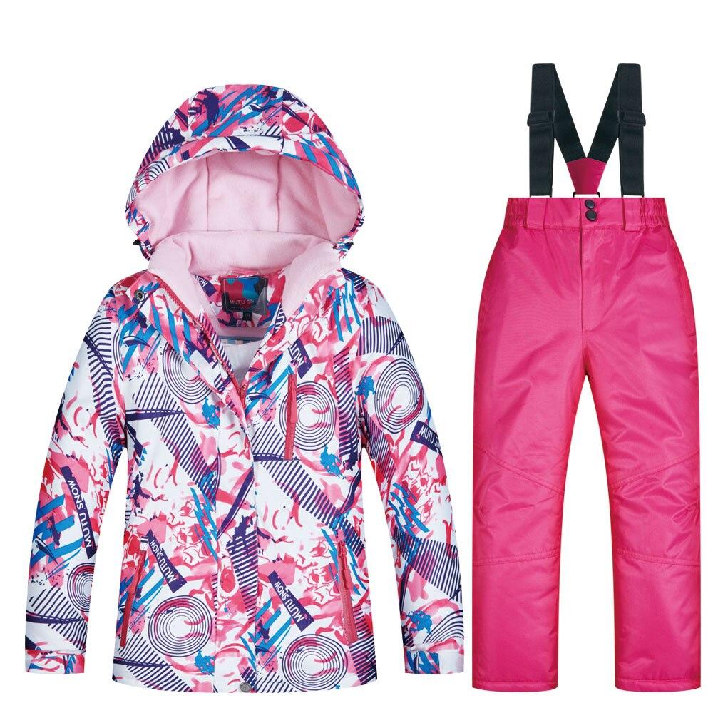 2019 лыжный костюм детская брендовая Новая высококачественная детская ветрозащитная Водонепроницаемая зимняя куртка зимняя Лыжная и Сноубордическая куртка для девочек
