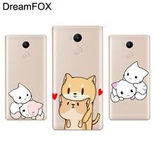 DREAMFOX M110 Kawaii Cute Cat Soft TPU Silicone Case Cover For Xiaomi Redmi Note 3 4 4X 5 5A 6 7 Pro Global