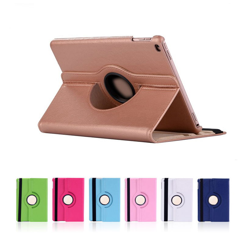 Protective Shell Cover for Apple iPad Air 2 Air 1 5 6 New iPad 9.7 2017 2018 5th 6th Generation 360 Degree Rotating Smart Case