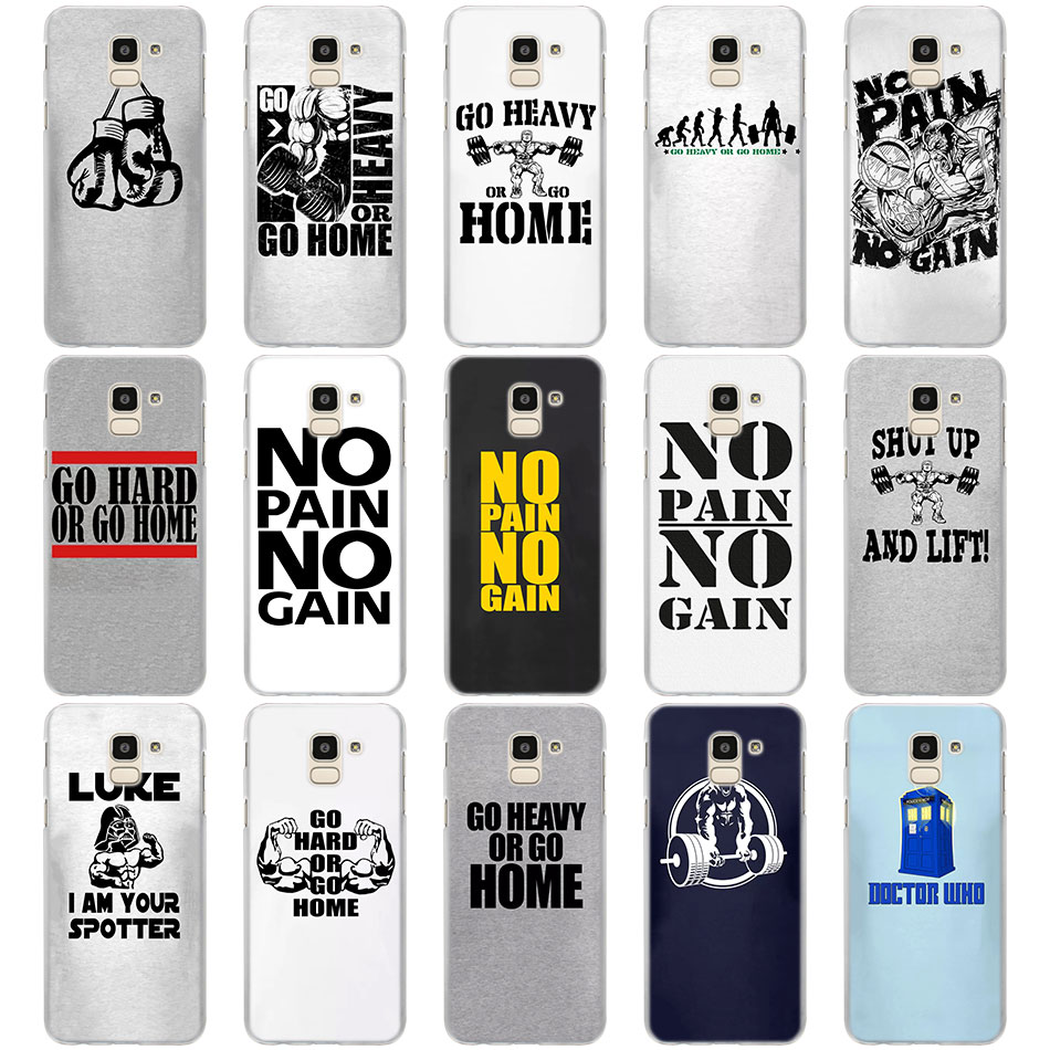go heavy or go home Heavy cases cover for Samsung Galaxy J6 J6 Plus J4 J4 Plus J2 J3 J4 J5 J7 J8 2018 hard PC Phone Cases