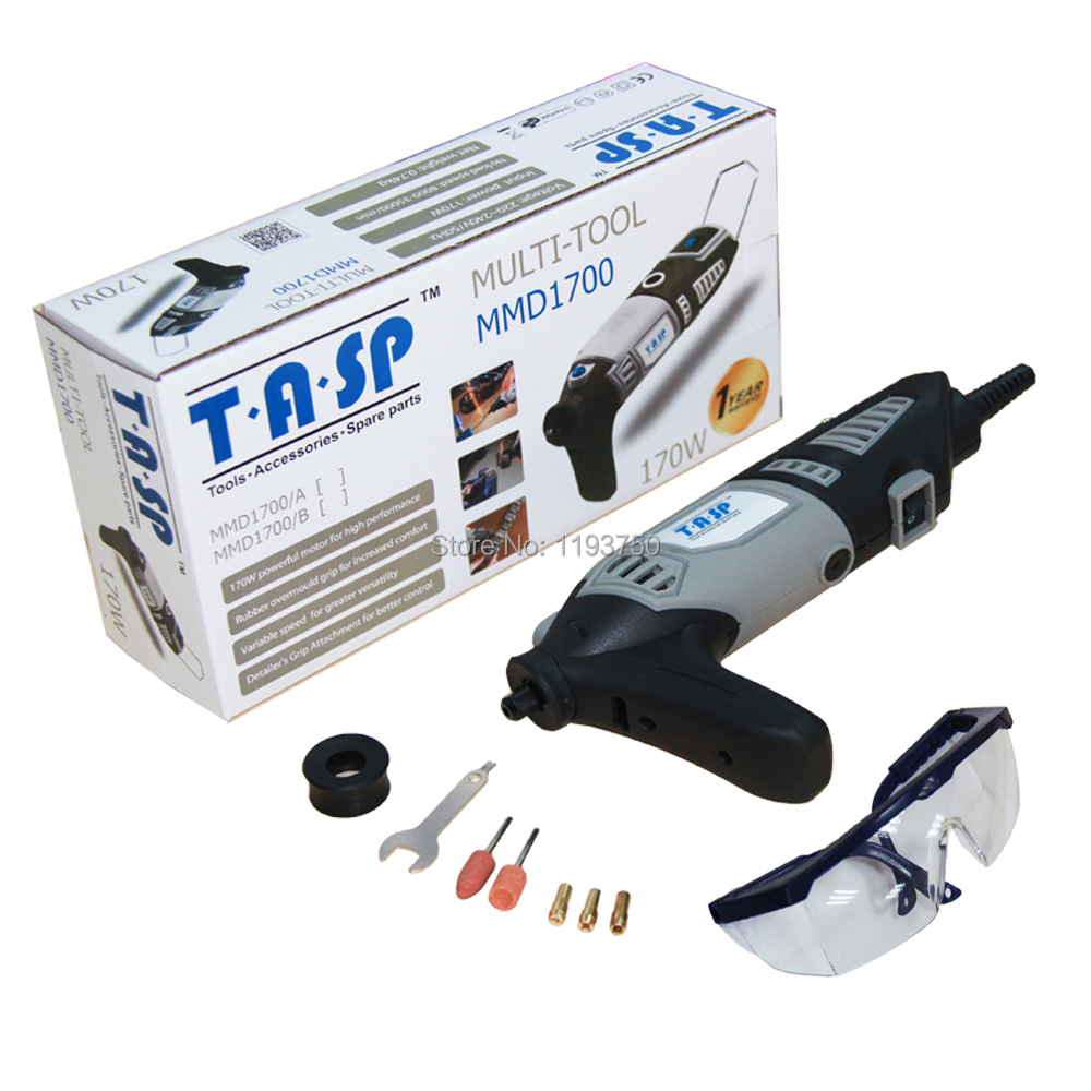 ФОТО TASP 170W Variable Speed Rotary Tool Dremel Style Electric Mini Drill with Accessories