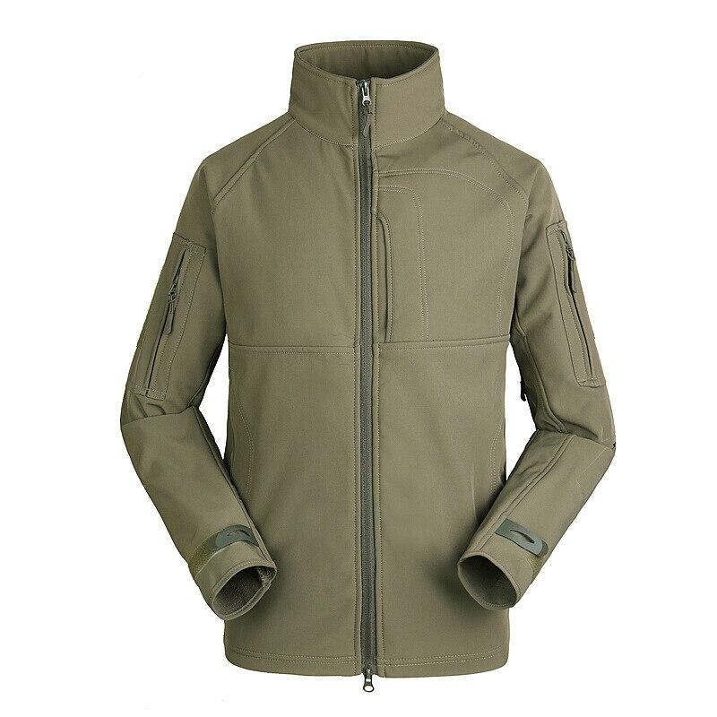 Extérieure Imperméable Coupe-Vent Randonnée Vestes Tactique Zipper Impression Ventilation Hommes Style Militaire Mince Tactique Vestes