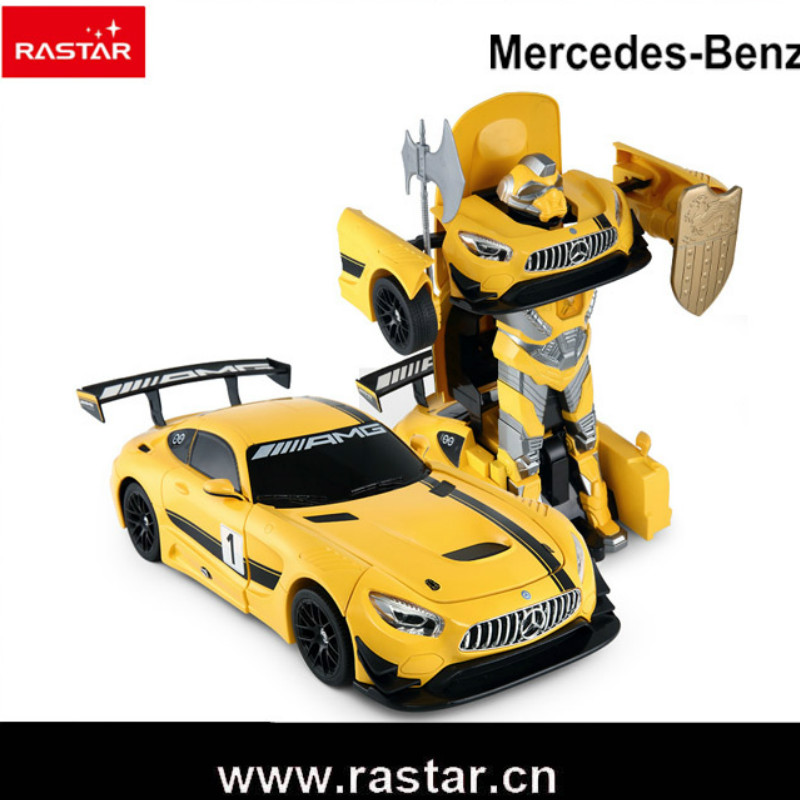 Rastar 1:14 Scale Model Car Children Robot Toys USB Charge Electric RC Deformation Robot Car Toy car transformers deformation robot transformers bumblebee model car toys for children