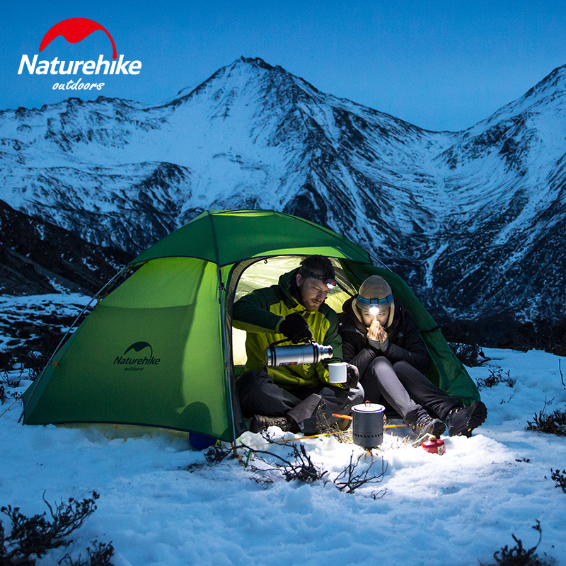 NatureHike 2 Man Winter C&ing Tent 4 Season Hexagonal Ultralight 2 Person C& Tente-in Tents from Sports u0026 Entertainment on Aliexpress.com | Alibaba ... & NatureHike 2 Man Winter Camping Tent 4 Season Hexagonal Ultralight ...
