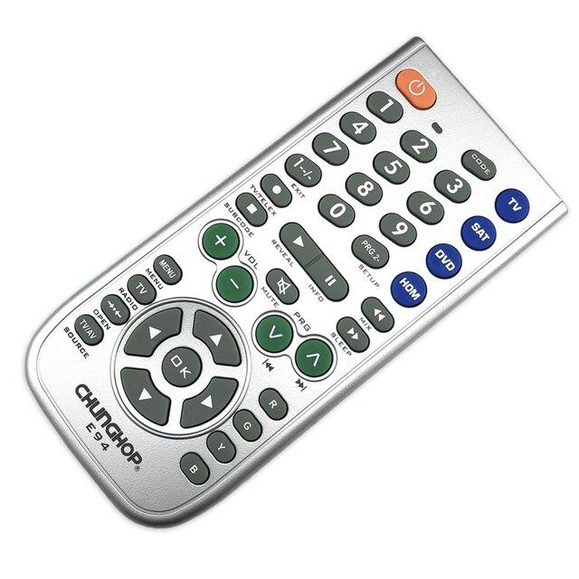 Novo 4 in1 inteligente universal controle remoto multifunções controlador para tv aux hom dvd sat função de aprendizagem botão grande e94