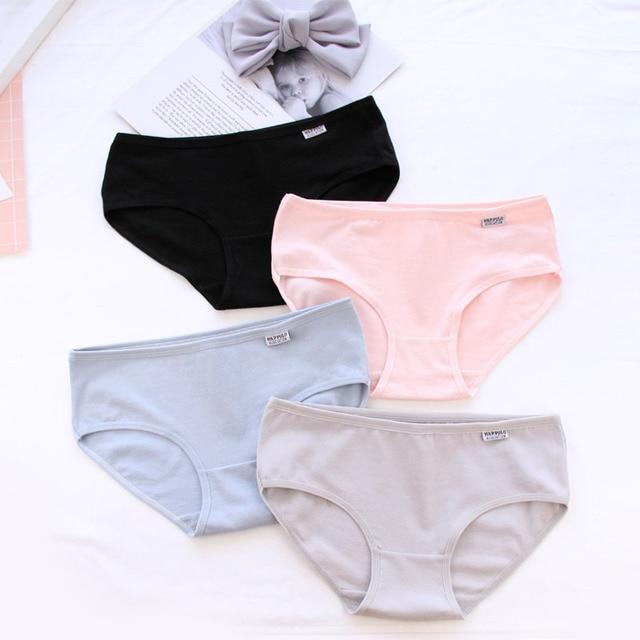 2dcca035a898 Bragas de algodón para mujer, bragas de color caramelo, ropa interior para  niñas,