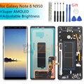 Супер Amoled lcd для samsung Galaxy Note 8 lcd сенсорный экран дигитайзер сборка N950 N950F с рамкой запасные части