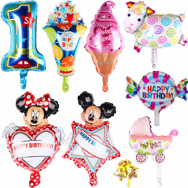 Xxyyzz Mini Baby Bad Dier Rijst Muis Beer Varken Partij Aluminium Film Baby Ballon Kinderen Birthday Party Speelgoed Decoratie