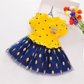 цена на Children Clothing 1-8Y Baby Girls Dress Summer Children Print Dress Princess Costume Toddler Party Kids Dresses for Girls