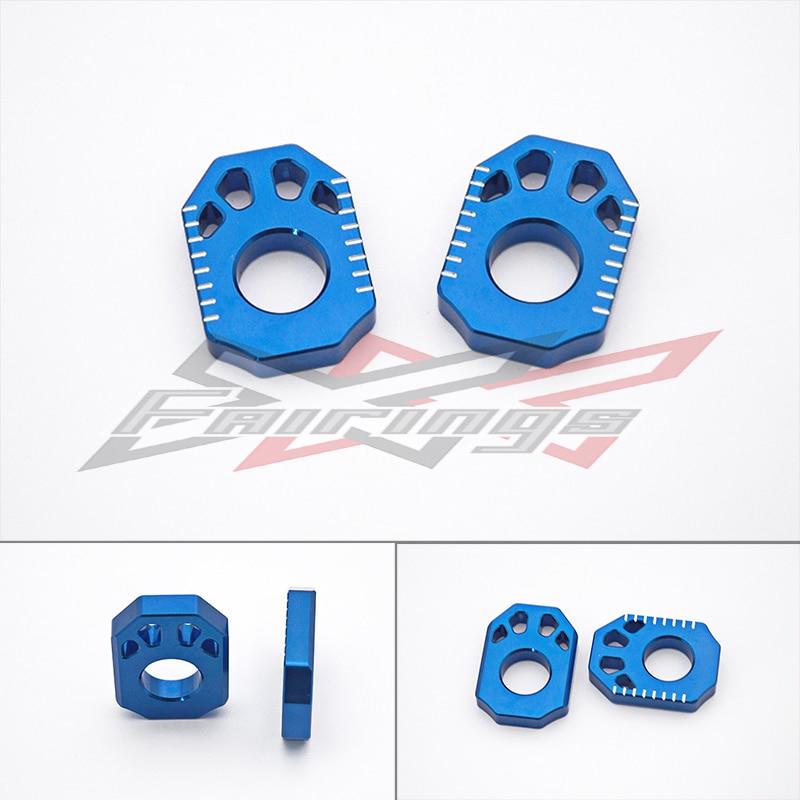ФОТО FREE SHIPPING Blue CNC Aluminium Billet Axle Blocks fit for Honda CRF250 L/M 2012-2013