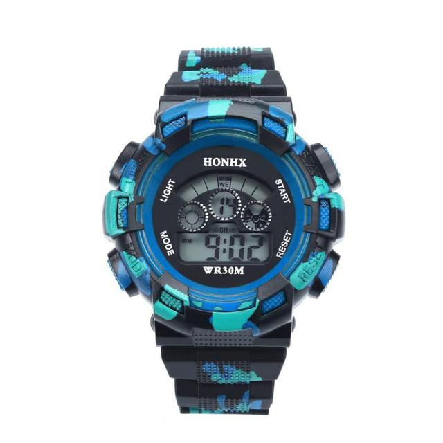 Dropshipping Gift Watches Waterproof Cool Mens Boys Digital LED Quartz Alarm Dat