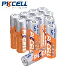 PKCELL 2/4/8/12 шт 1,6 V Перезаряжаемые NIZN AA Батарея 2500mWh NI-Zn 1,6 V 2A Батарея для камеры игрушки фонарик