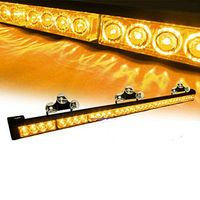 12V LED Light Bar 32W High Power Sucker Warning Flashlight 32 LEDs Daytime Running Lights for Offroad Truck SUV ATV Trailer