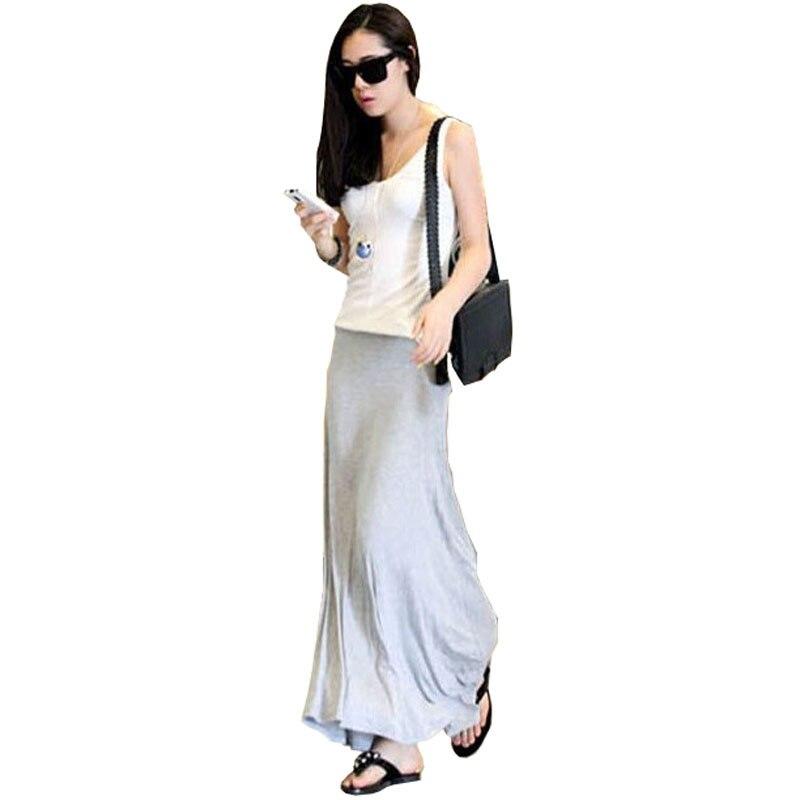 2016HOT Sale Streetwear Modal Comfortable Soft Big Skirt Fashion Slim full-length Skirt Ladies Girls Long Skirt Cheap wholesale
