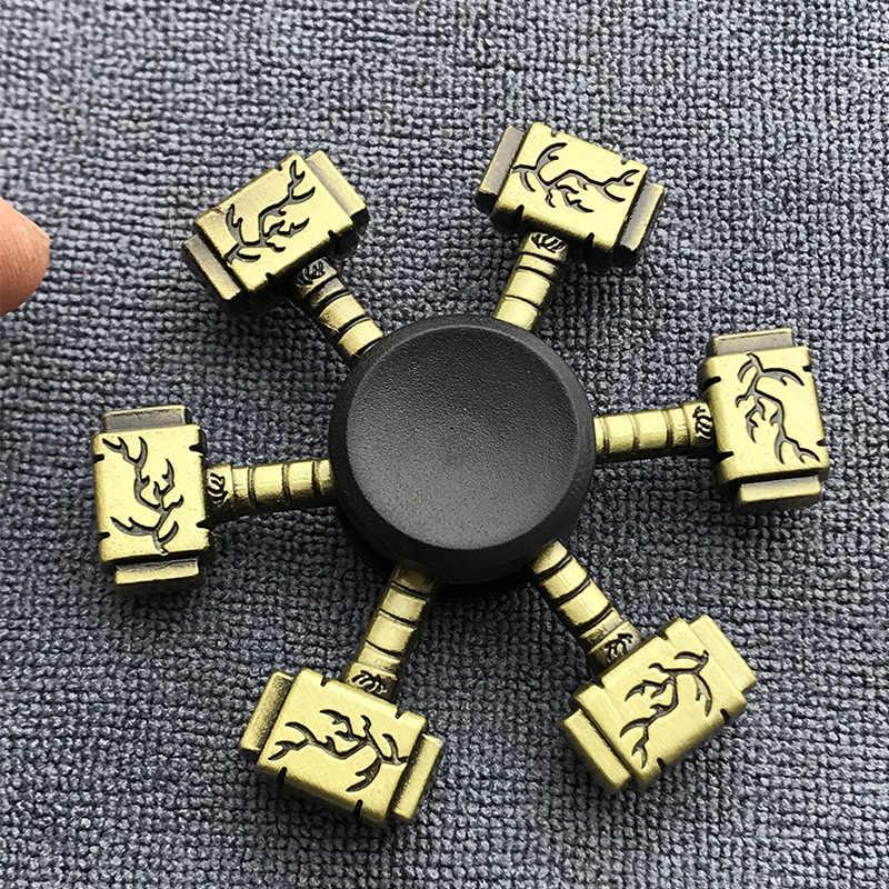 Бронзовая шестеренка ручной Спиннер для пальцев Спиннер Тор молоток Эйфелева башня сплав металлический ручной Спиннер кольцо хобби для взрослых