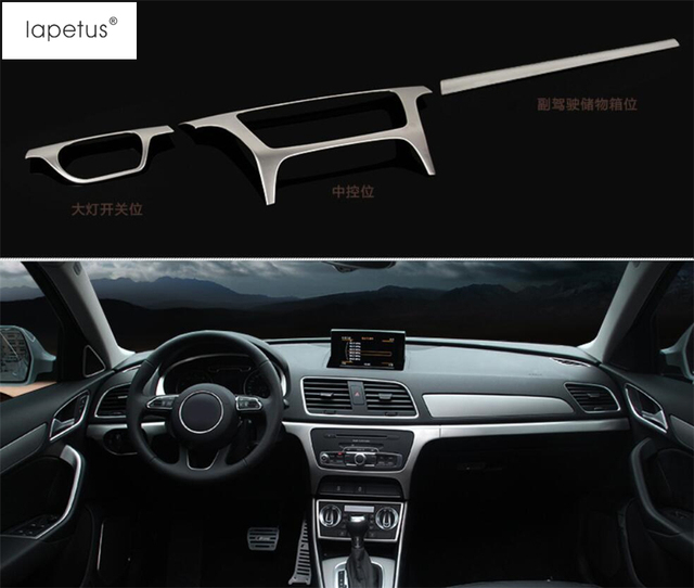 Stainless Steel ! Accessories For Audi Q3 2013 2017 Central Control