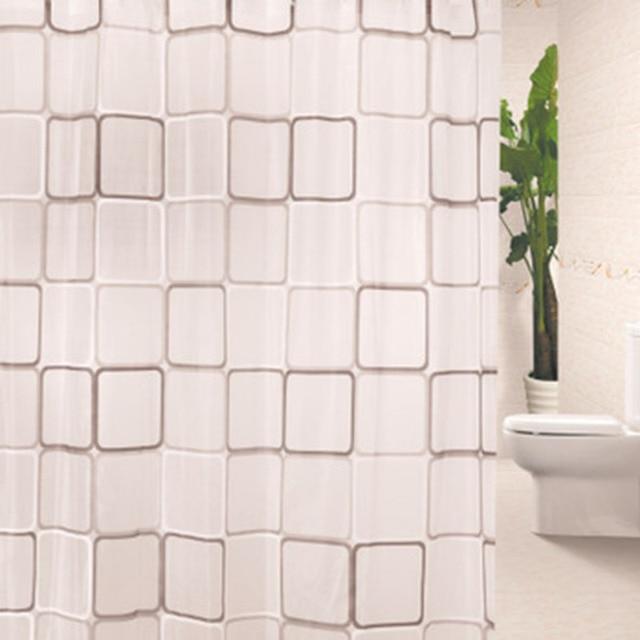 USPIRIT Fashion Simply PEVA Eco Friendly Shower Curtain Waterproof  Mildewproof Bath Curtain With Hooks Bathroom