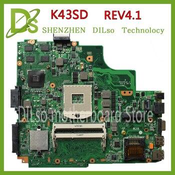 KEFU K43SD  laptop motherboard for ASUS K43SD K43E P43E A43E K43SV K43 mianboard original GT610M Test motherboard 100% original