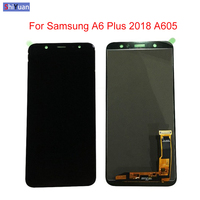 6.0 LCD Display For Samsung Galaxy A6 Plus 2018 A6+ LCD Touch Screen Digitizer Assembly A605 A605FD Replacement Black