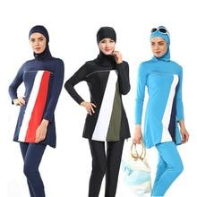 Cheap 2017 Summer Women Muslim Swimming Set Islam Clothes Islamic Swimsuit Adult Swimwear Suit B2Cshop
