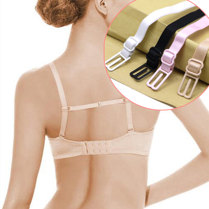 5Pcs Double-Shoulder Straps Slip-Resistant Belts Buckle Shoulder Straps Bra Non-Slip Back Bra Straps Holder Adjustable 4 Colors