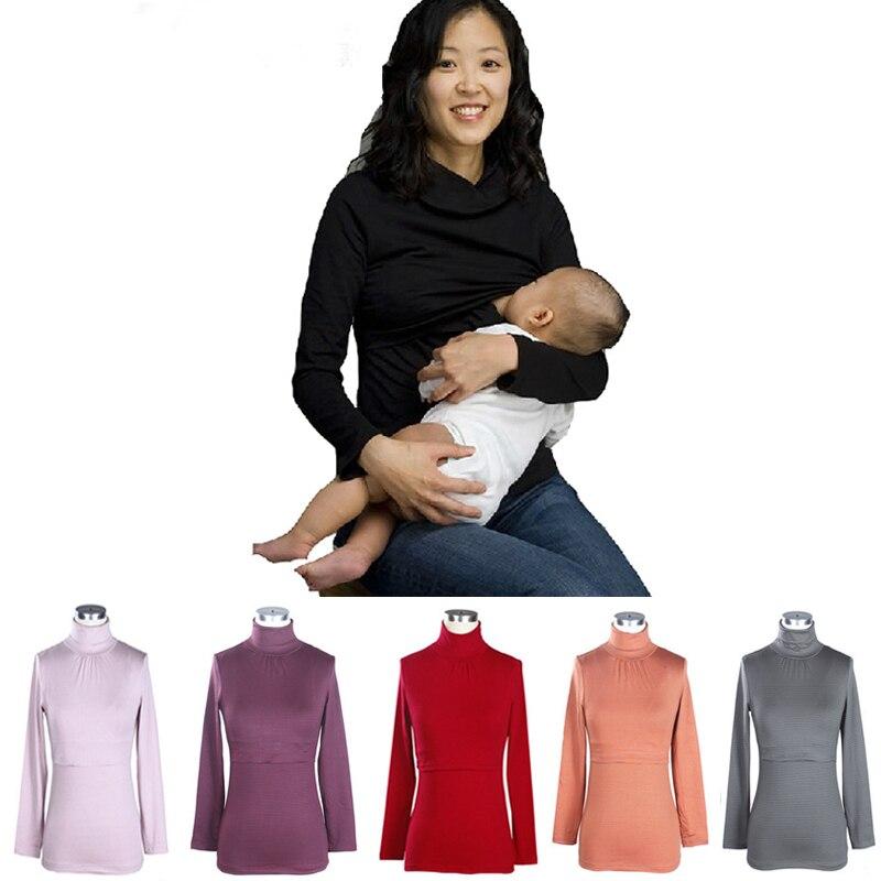 433a45ba3b1 Maternidad ropa de Invierno y Otoño Top Lactancia de Calentamiento Térmico  de fibra de Algodón tapas de Enfermería para Las Mujeres Embarazadas al por  mayor ...