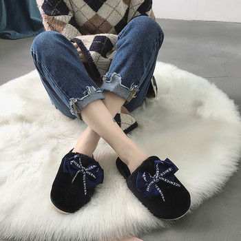 COOTELILI Women Home Slippers Winter Warm Shoes Woman Slip on Flats Slides Female Faux Fur Slippers Women Shoes Closed Toe 1