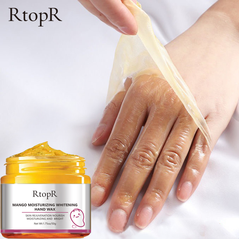 Mango Moisturizing Hand Wax Whitening Skin Hand Mask Repair Exfoliating Calluses Film Anti-Aging Hand Skin Cream 50g 2