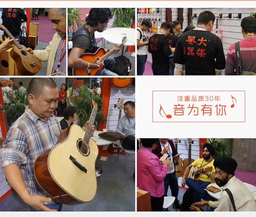 Tenor Ukelele Mini Guitarra Acústica Starter 4