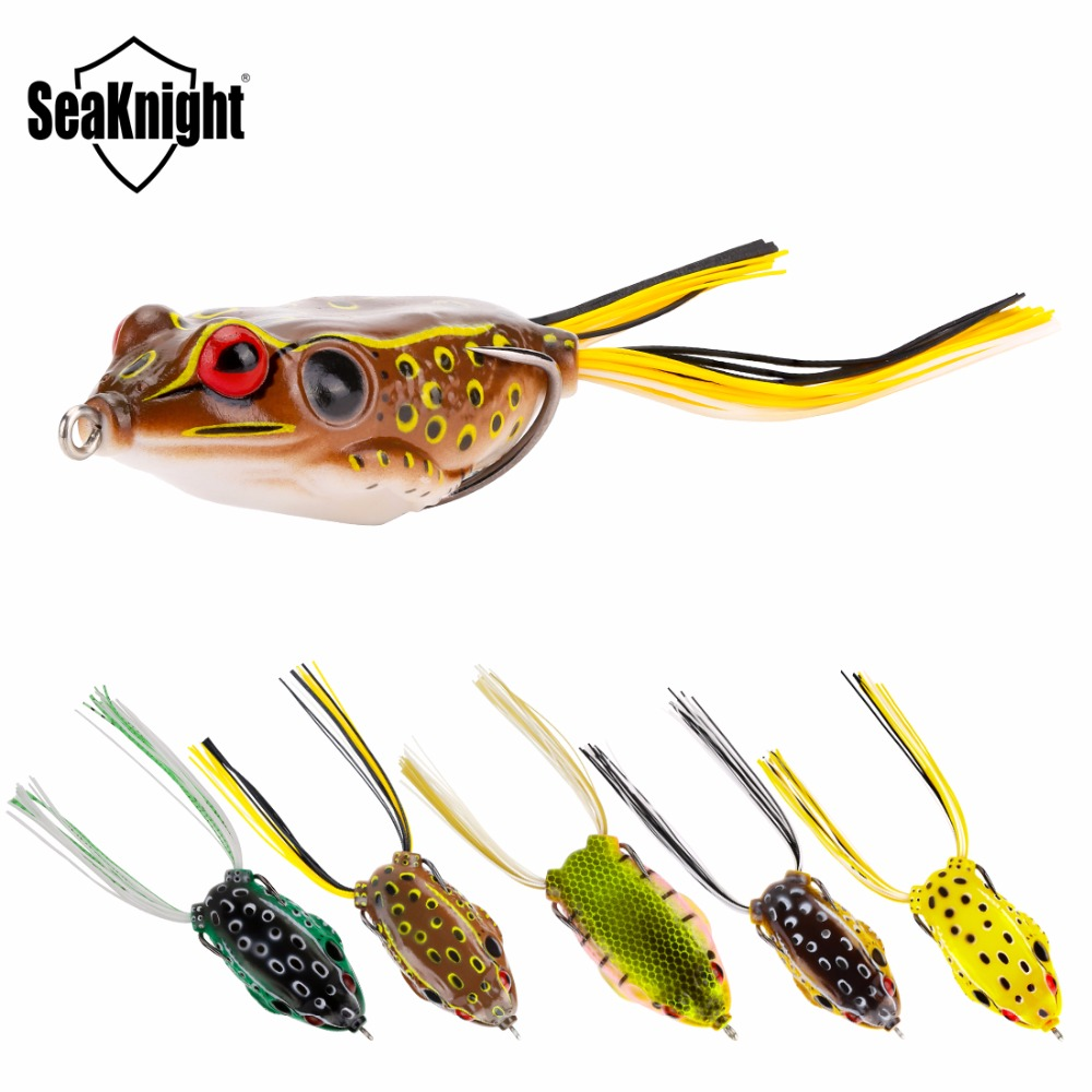 SeaKnight SK401 SK402 Мягкая приманка-лягушка, 21 г 65 мм, Topwater, 5 шт., плавающая приманка, 5 цветов, Реалистичная искусственная приманка для рыбалки