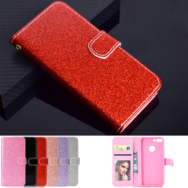 best service bdaec 51d53 US $4.99 |Glitter PU Leather Cover Cases for Pouzdro Huawei Honor 9 Lite  Case for Honor 9 Lite Wallet Flip Book Magnetic Stand Phone Case-in Flip ...