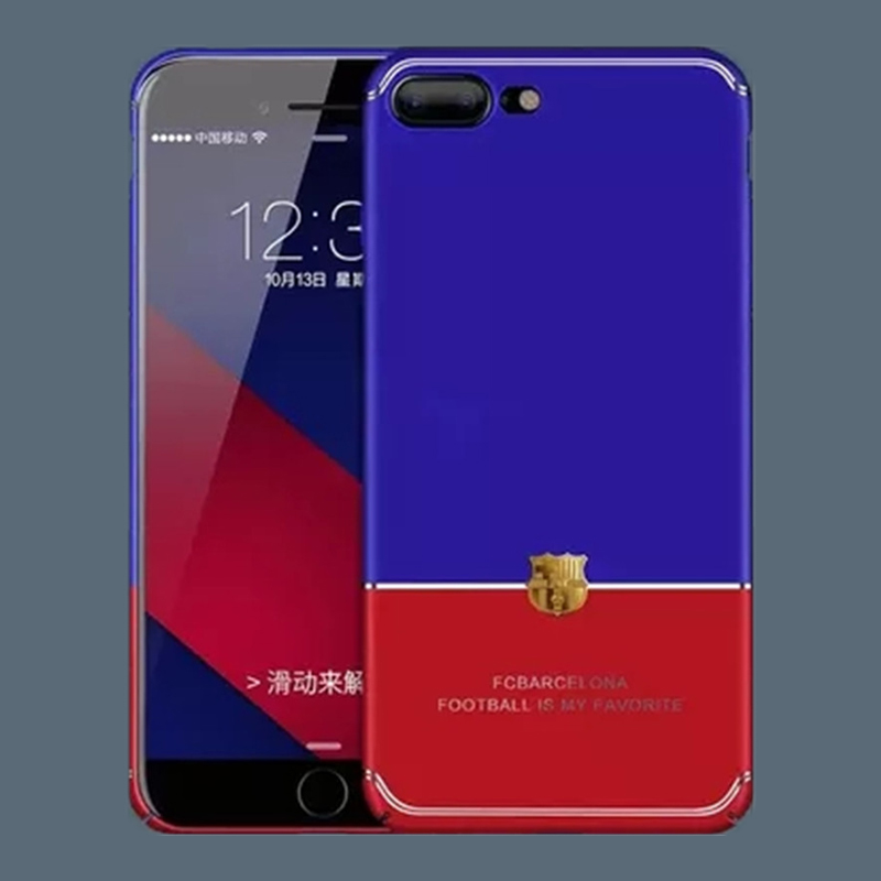Phone Iphone X Durable Barcelona Hard Pc Barca Football Fcbarcelona Blue Red Back Cover Cases For Iphone 6 6s 7 8 Plus