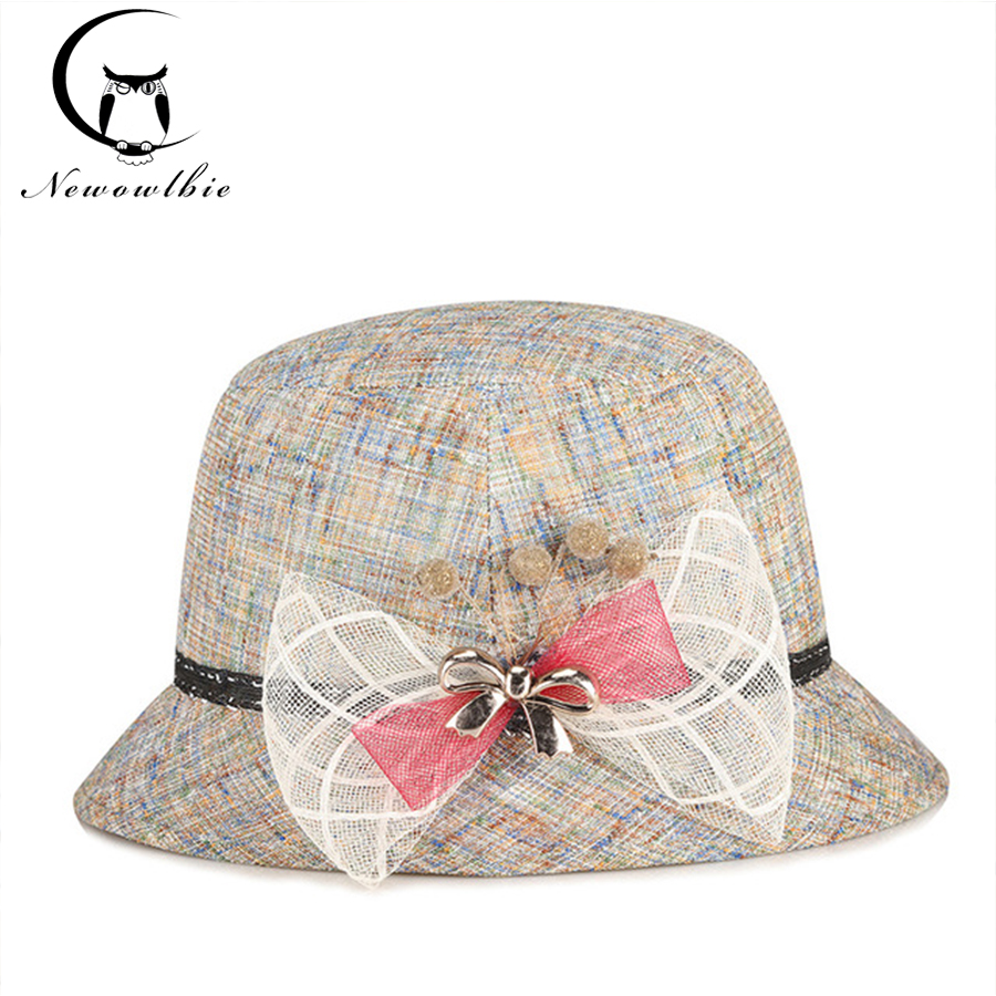591c251075f Ladies Hat summer new linen outdoor fashion sunshade hat sun hat middle aged  and old mother s hats sombreros mujer verano-in Sun Hats from Women s  Clothing ...
