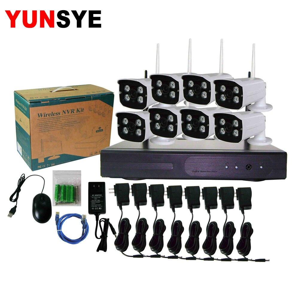 2MP 1080 P système de vidéosurveillance 8ch HD sans fil NVR kit 4 to HDD extérieur IR Vision nocturne IP Wifi caméra système de sécurité Surveillance Hiseeu