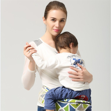 Sacs à dos Insérer Un Bébé Unique Tabouret 4-6 Mois Avant Carry 20 kg Coton Solide Une Épaule Transporteurs Des Tas de Transport Pour Un nouveau-né