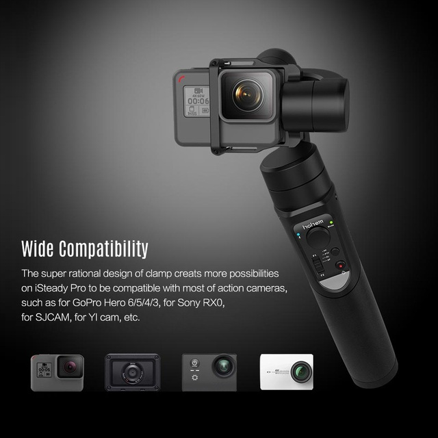 3-axis Handheld Gimbal Stabilizer for GoPro and Cell Phones 3