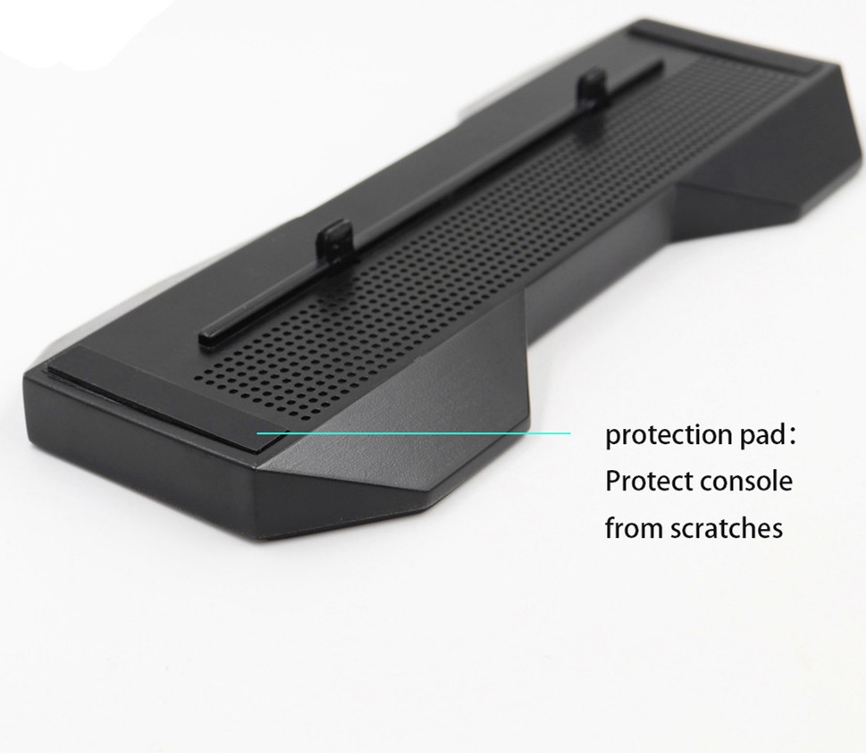 Vertical Stand W/ Anti-slip mat Protection Pad Mount Bracket Support Base Holder For Xbox One X OneX Console+8 Controller caps