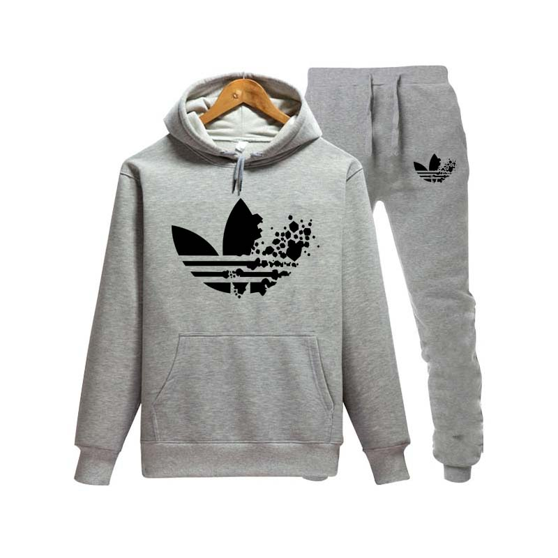 Fashion New 2018 Brand Tracksuit Fashion Men/women Sportswear Two Piece Sets All Cotton Fleece Thick Hoodie+pants Sporting Suit Strong Packing