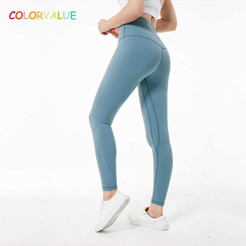 Colorvalue Super Zachte Hip Up Yoga Fitness Broek Vrouwen 4-Manier Stretchy Sport Panty Anti-zweet Hoge Taille gym Athletic Leggings