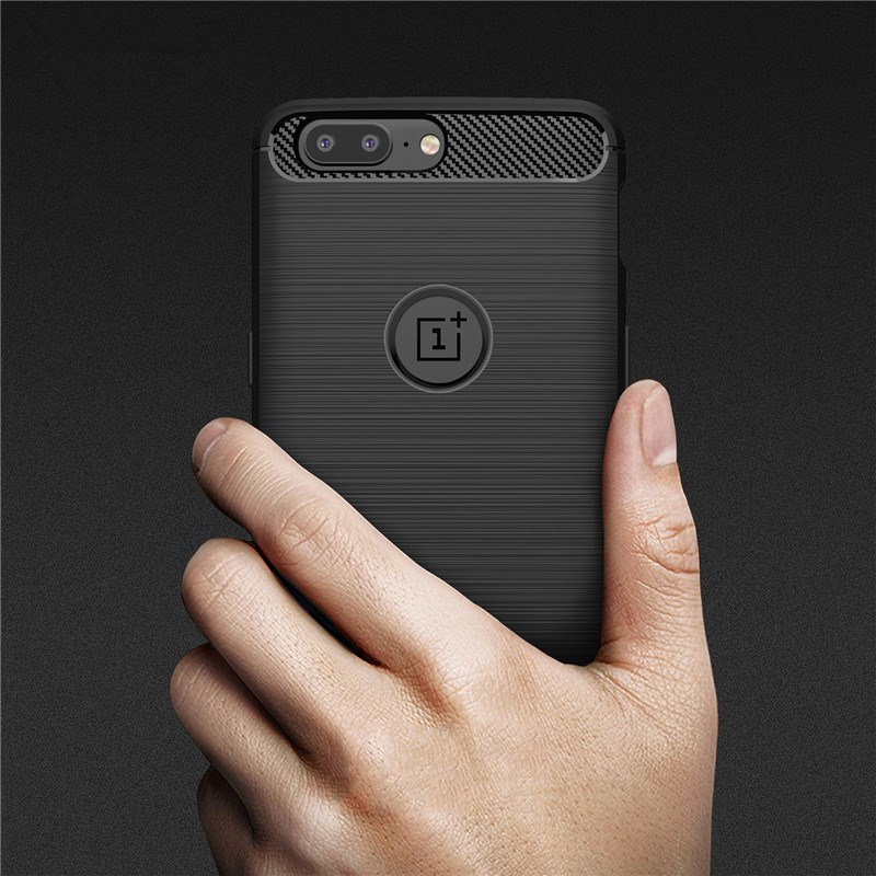 Luxury Soft Silicon Phone Cases for Oneplus 5 5t Case For Oneplus 3 3T case TPU Carbon Fiber Texture Cover For One Plus 5t Case
