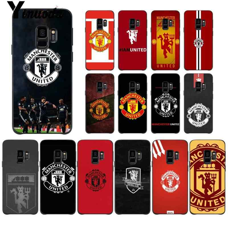 Yinuoda Manchester United FC Soft Silicon Black Phone Case for Samsung Galaxy S9 plus S7 edge S6 edge plus S10 S8 plus case