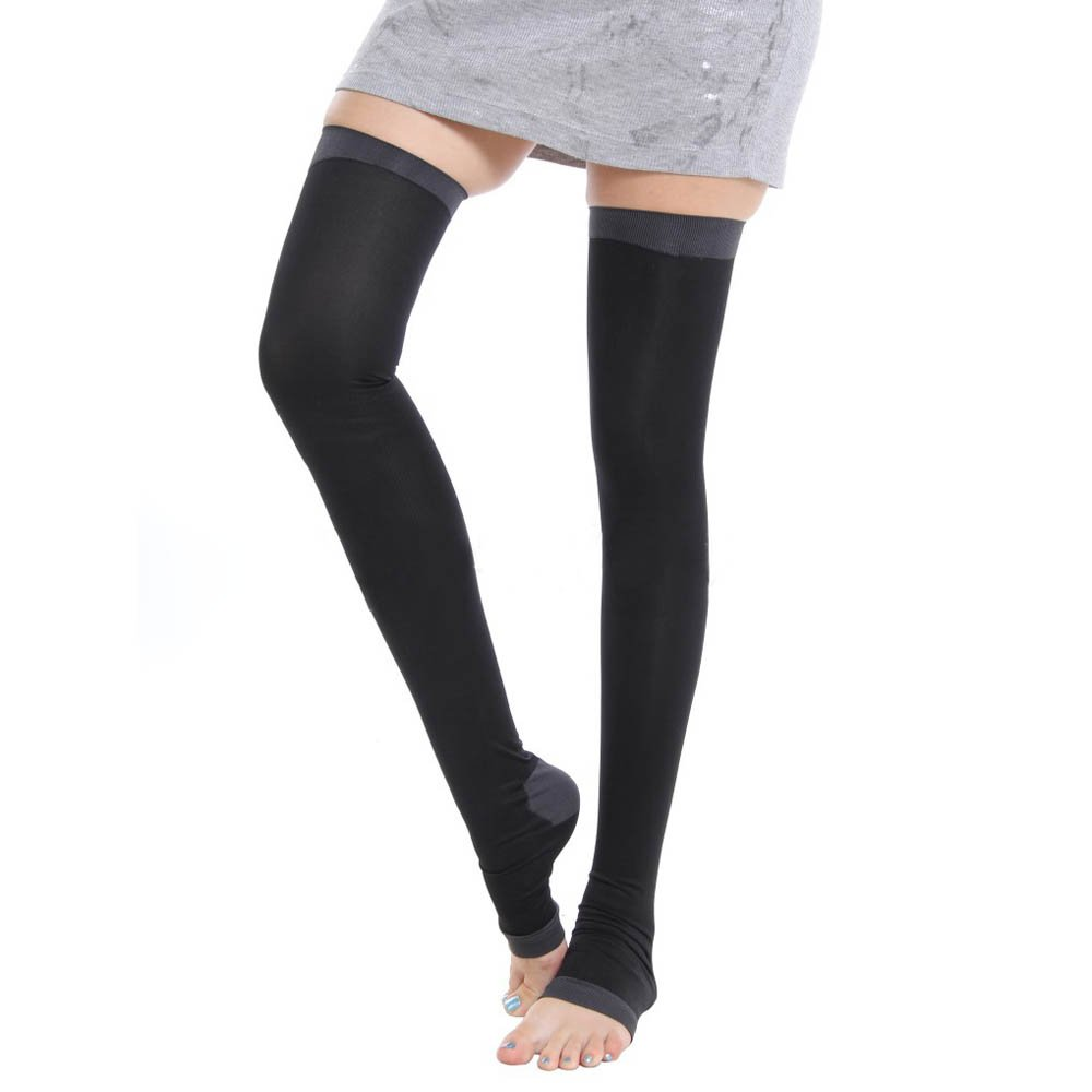 2017 NEW 480D Stockings Legs Professional Compression Anti Varicose Fat Burning Stovepipe Women Sleeping Health Black