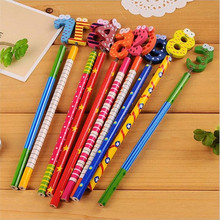 10PCS/lot 10 Digital Pencils Office And Study Nice Gift Prize Stationery Kids Gifts