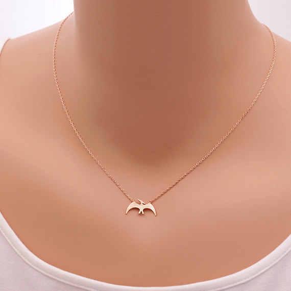 Moda kolye dinozor Pterosaur kolye kolye hayvan kadınlar için bildirimi takı bisutería mujer