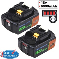 Replace for Makita BL1850B 18V Li ion Battery 6.0AH BL1860 BL1830B BL1840 BL1850 Makita Battery