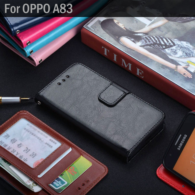 for OPPO A83 case luxury Classic Leather Flip cover with Stand Card Slot capa Wallet phone Cases for OPPO A83 funda coque