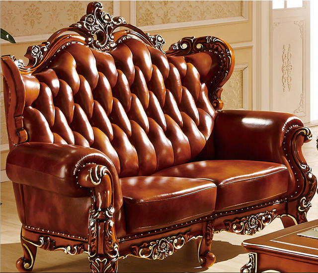 US $3880.0 |Luxury brown color wooden carved sofa set 8830-in Living Room  Sofas from Furniture on Aliexpress.com | Alibaba Group