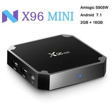 Android 7.1 TV BOX 2GB/16GB Amlogic S905W Quad Core Suppot 2.4GHz WiFi Media Player IPTV Box X96 mini 1GB/8GB X96mini недорого